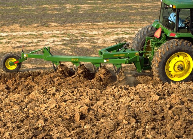 soil tillage by Deere plow