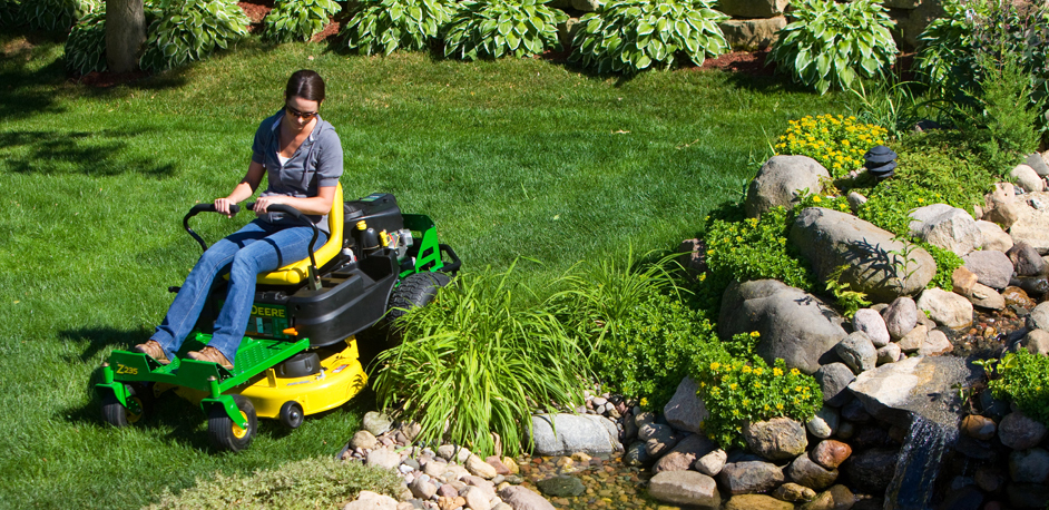 John Deere zero turn riding mower