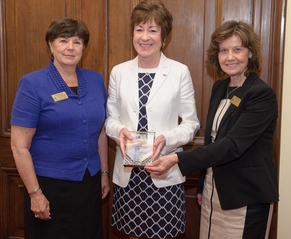Senator Susan Collins receives the 2013 Champion of Agriculture Award