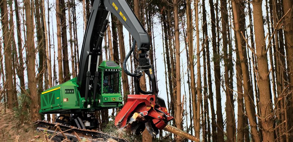John Deere Forestry Harvester Thick Forest