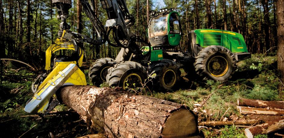 John Deere 1470E Forestry Harvester