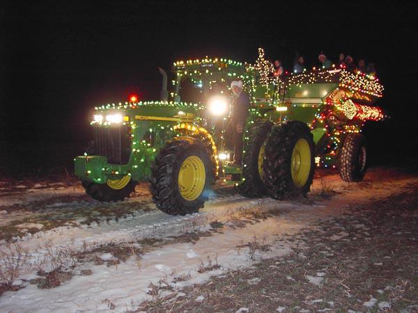 John Deere Holiday Light Tractor