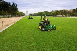 John Deere has announced a donation of grounds care products and attachments to assist in renovating turf at the National Mall