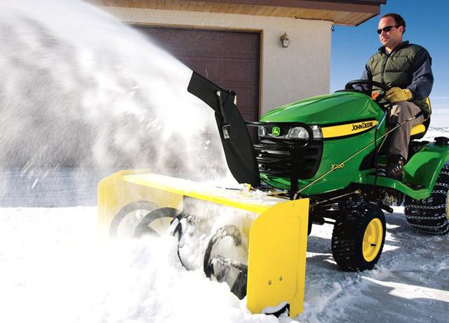 John Deere X Series Riding Mower Snow Blower