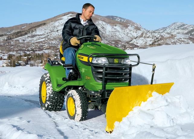John Deere X540 Riding Mower Plow
