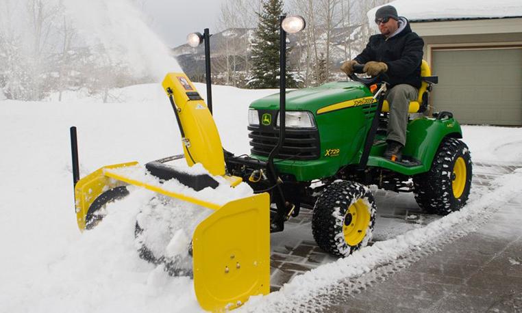 John Deere X300 Snow Blade : Pictures of john deere mowers in the snow