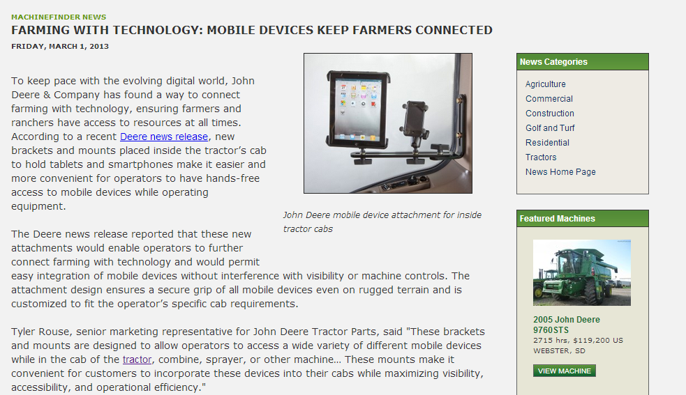 Farming with Technology