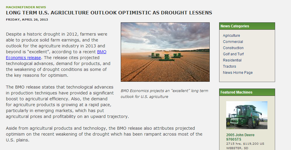 Long Term U.S. Agriculture Outlook