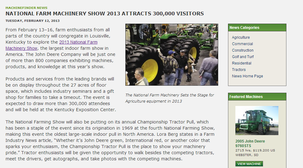 National Farm Machinery Show 2013