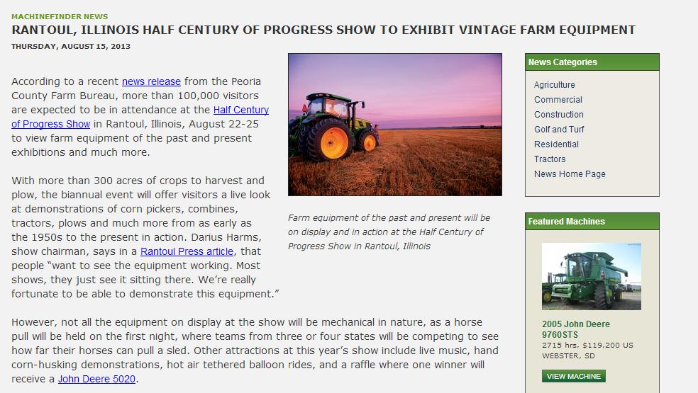 Rantoul, Illinois Half Century of Progress