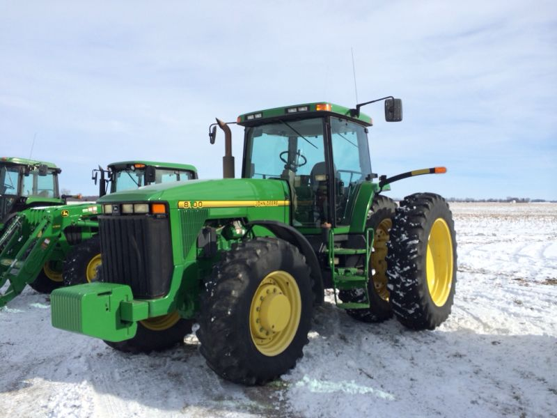 This 1996 JD 8100 tractor with 3,603 hours sold for $76,000 on a Jan. 10, 2014 farm auction in west-central Ohio