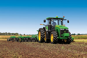 John Deere's new 8R Series tractors were introduced in unique fashion, wowing audiences at the Agritechnica Exhibition