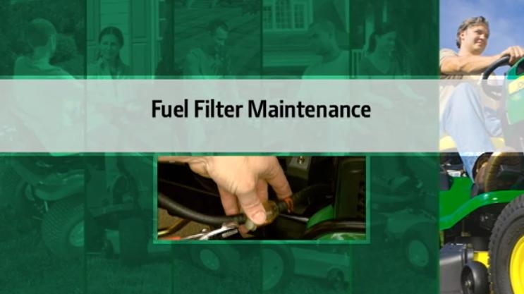 John Deere Fuel Filter Maintenance