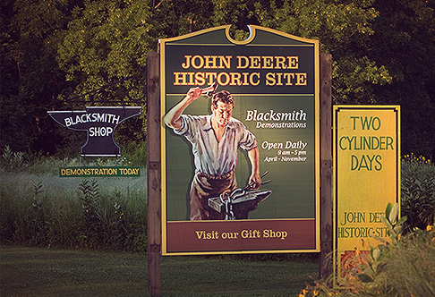 John Deere Historic Site Sign Journeying Back more than 175 Years at the John Deere Historic Site