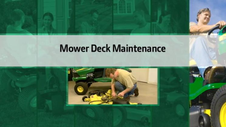 John Deere Mower Deck Maintenance
