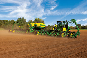 The ExactEmerge planter arms producers with the ability to deliver seeds to the trench at speeds of up to 10 mph.