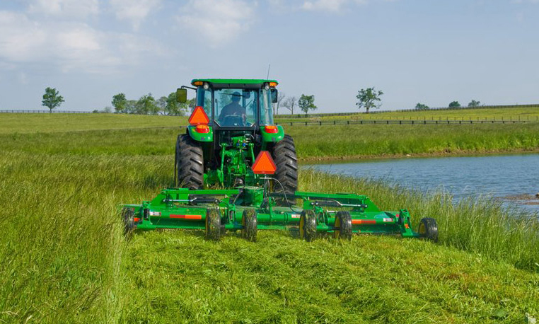 Knocking Down Stalks With Ease Using John Deere Rotary Cutters
