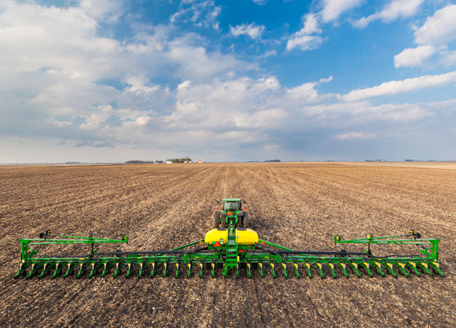John Deere DB Planter Partly Cloudy Day