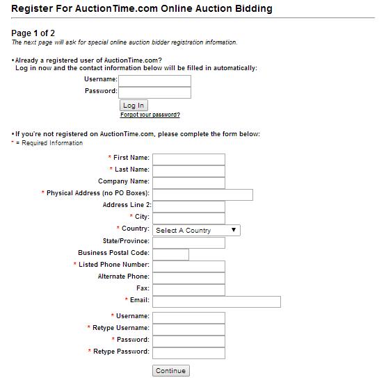 Bidding Registration Part 1