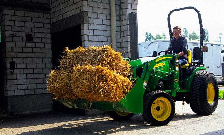 John Deere 2R with Hay