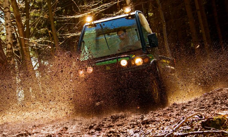 John Deere Gator through Mud