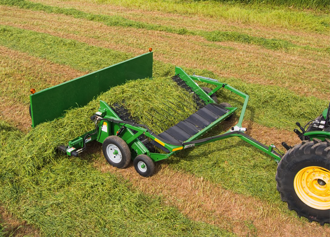 Hay Tractor With Loader : John deere loader attachments to simplify hay farming