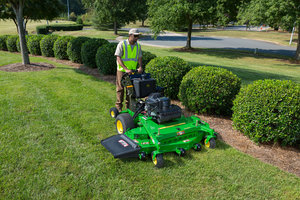 Sixteen John Deere commercial mowers in Hampton, Va. were recently equipped with propane tanks.