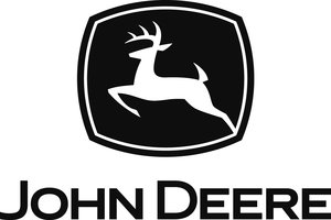 Hinton's original jumping deer drawing, on display at the exhibit, inspired John Deere's now famous company trademark.