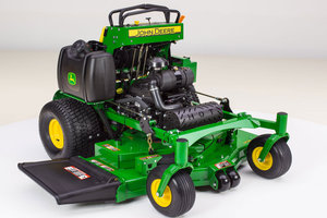 John Deere's Mulch On Demand has been added to the 2014 line of QuikTrak commercial mowers to increase productivity.
