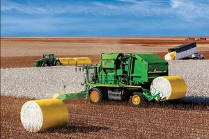 Several of the CS690 Cotton Stripper's features are designed to meet the challenges that fall weather's unpredictability often presents.