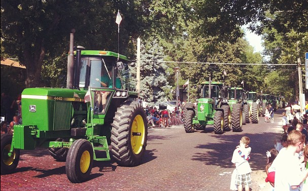 JD tractor July 4th parade