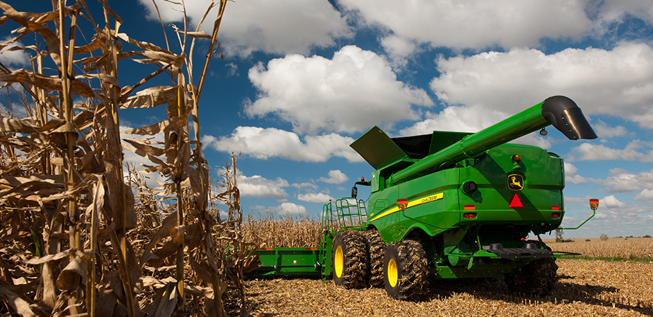 Corn Header from Behind