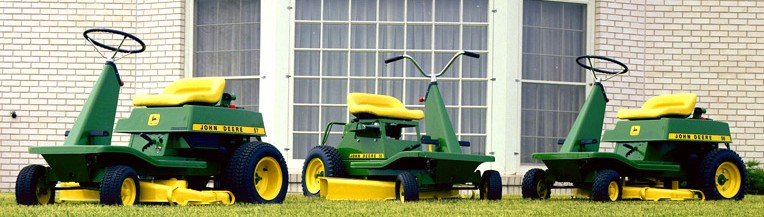 John Deere Vintage Riding Mowers