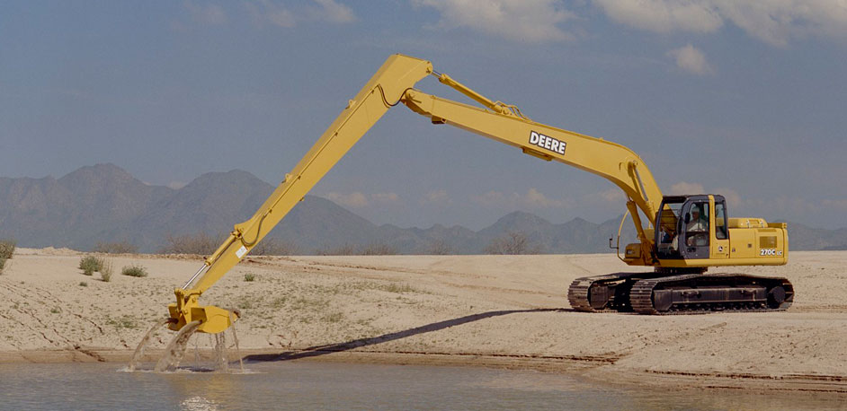 Excavator with Water