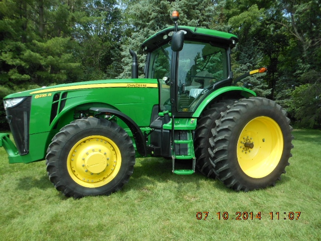 This 2012 8235R tractor with 144 hours sold for $151,000 on a farm auction in north-central Iowa August 26, 2014
