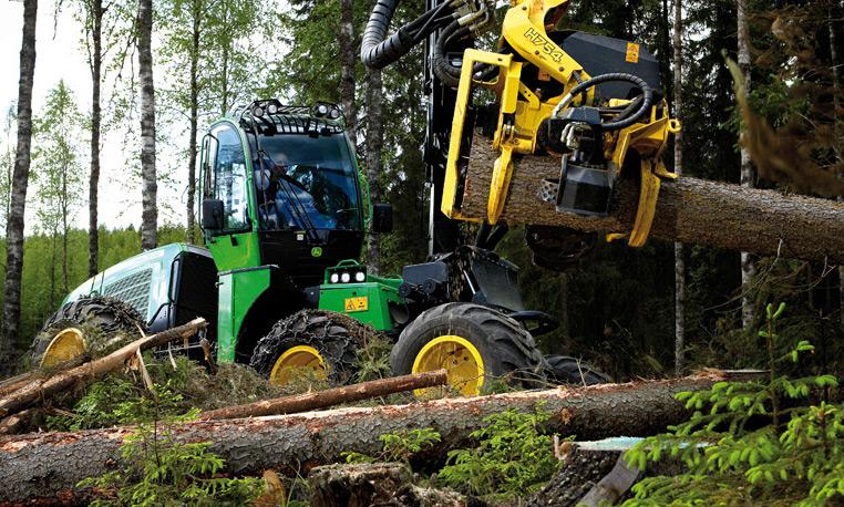 Wheeled Forestry Harvester