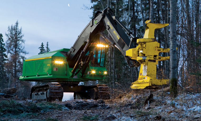 Tracked John Deere Feller Buncher Find the Root of Your Problems with John Deere Feller Bunchers