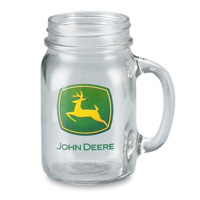 John Deere Glass Drinking Jar