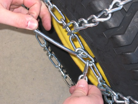 Preparing For Winter How To Install Tire Chains On John Deere Equipment