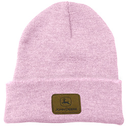 John Deere Pink Knit Beanie