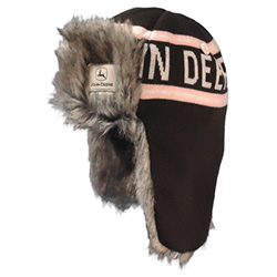 John Deere Pink and Cream Hockey Trapper
