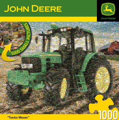 John Deere Tractor Mosiac 1000 Piece Box Puzzle