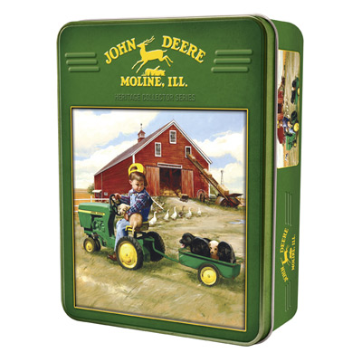 John Deere Tractor Ride 1000 Puzzle with Collectible Tin