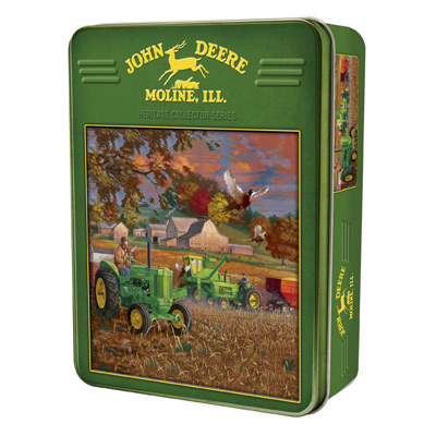 John Deere Bumper Crop 1000 Piece Puzzle with Collectible Tin