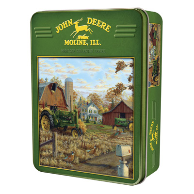 John Deere Autumn Gold 1000 Piece Puzzle With Collectible Tin