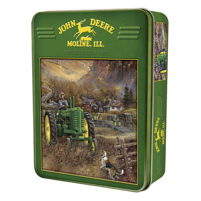 John Deere Autumn In Deere Country 1000 Piece Puzzle With Collectible Tin