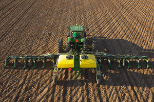 Many of John Deere's planters include variable-rate seeding technology to improve efficiency on the field.
