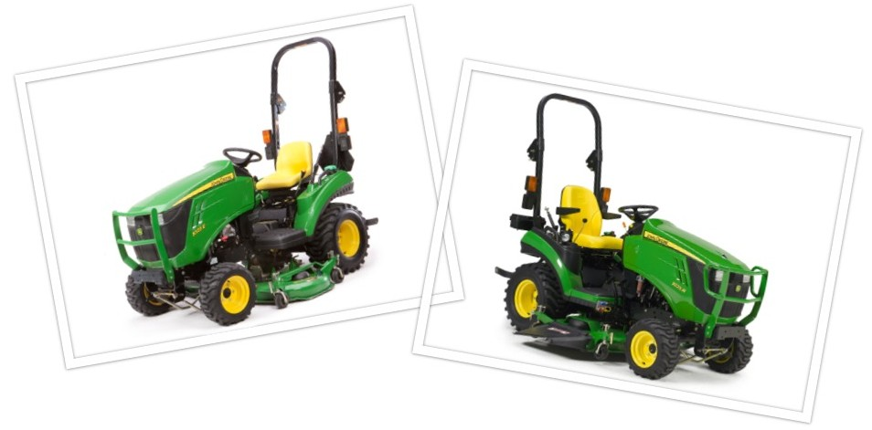 John Deere Comparison 1023E and 1025R