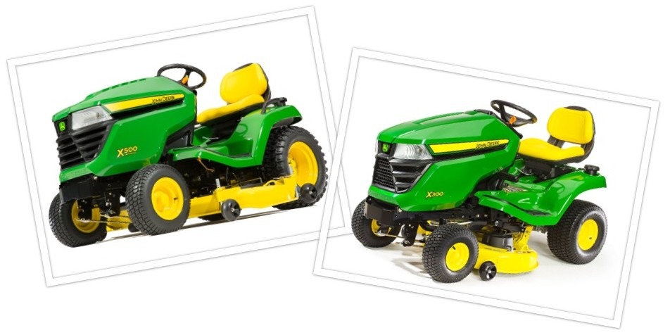 the john deere x300 and x500 are similar in their abilities to make a lawn  dazzle, but they do have some differences as well