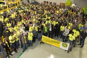 Employees at the Turf Care factory in Fuquay-Varina, N.C. recently celebrated the company milestone.